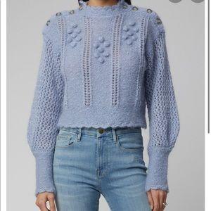 Loveshackfancy Pom Pom Mohair Pullover Sweater